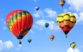 Balloon Payments and Seller Financing, photo of hot air balloons